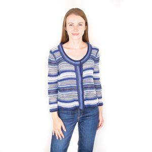 RACHEL BY RACHEL ROY Knit Striped Blue Jacket